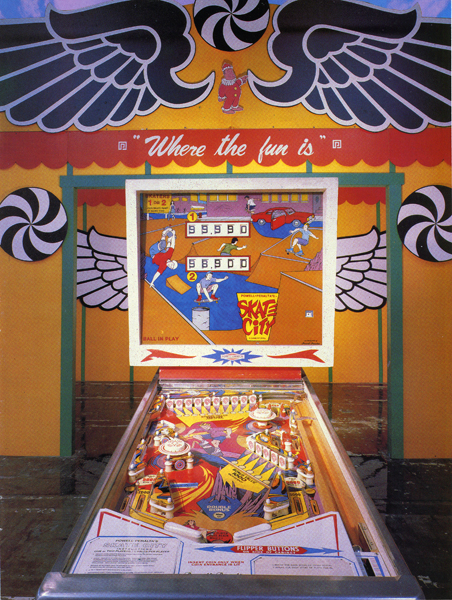 skate city pinball machine